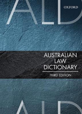 Australian Law Dictionary 3rd Edition