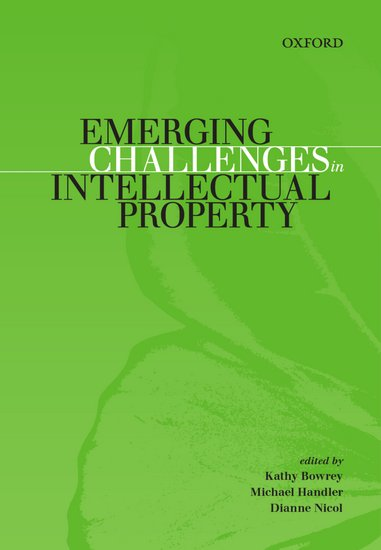 Emerging Challenges in Intellectual Property Ebook