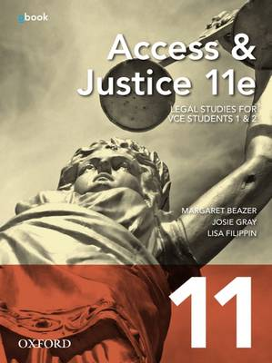 Access and Justice VCE Units 1&2 11th Edition Student Book + Obook