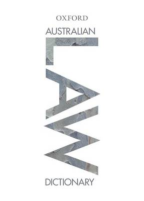 Australian Law Dictionary Print and Online
