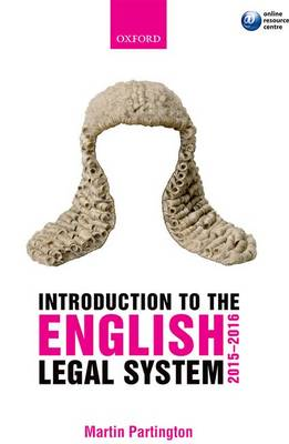 Introduction to the English Legal System 2015-2016 10th Edition