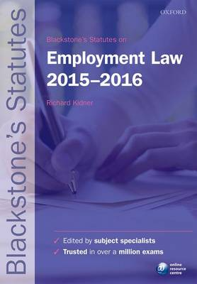 Blackstone's Statutes on Employment Law 2015-2016