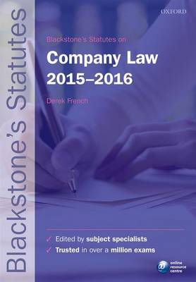 Blackstone's Statutes on Company Law 2015-2016
