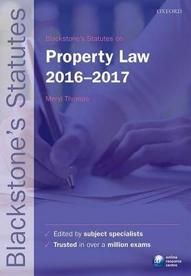 Blackstone's Statutes on Property Law 2016-2017