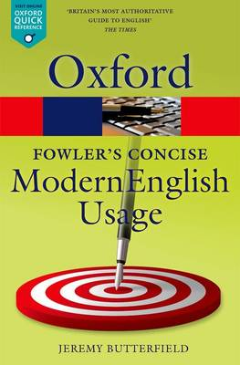 Fowler's Concise Dictionary of Modern English Usage