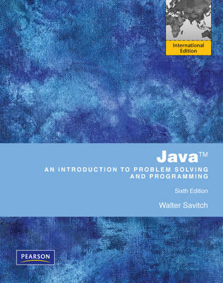 Java An Introduction to Problem Solving & Programming
