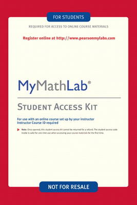 MyMathLab -- Valuepack Access Card