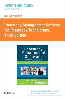 Online Course for Pharmacy Management Software for Pharmacy Technicians (Retail Access Card), 3rd Edition