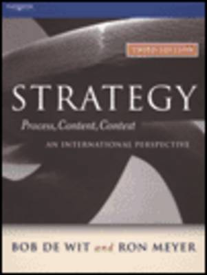 Strategy : Process, Content, Context--An International Perspective
