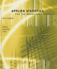 Applied Statistics for the Behavioural Sciences