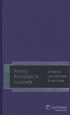 Family Provision in Australia 4th Edition