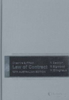 Cheshire and Fifoot's Law of Contract: Australian Edition (Hardback)