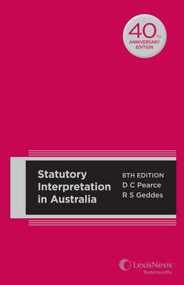 Statutory Interpretation in Australia 8E