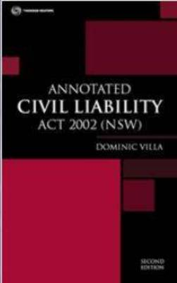 Annotated Civil Liability Act NSW 2nd Ed