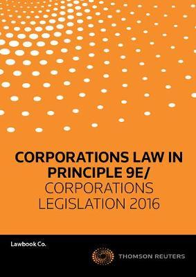 Corps Law in Principle 9e/ Corps Leg2016