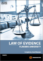 Law of Evidence: Flinders University 2e
