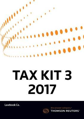 Tax Kit 3 2017 (Principles of Taxation Law 2017 + Australian Taxation Law Cases 2017)