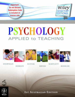 Psychology Applied to Teaching: 1st Australian Edition + Ebook