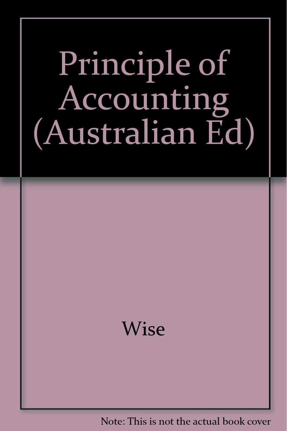 Principle of Accounting (Australian Ed)