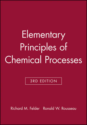 Elementary Principles of Chemical Processes: Student Workbook