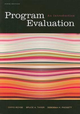 Program Evaluation: An Introduction