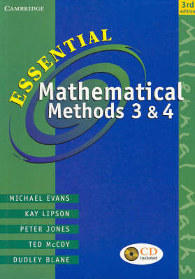 Essential Mathematical Methods 3 and 4 with CD-Rom: Units 3 & 4