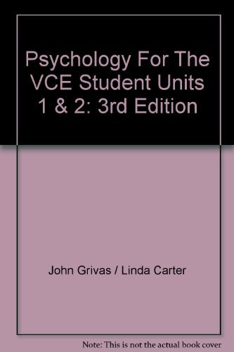Psychology for the Vce Student: Vce Psychology Units 1&2 3e