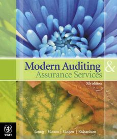 Modern Auditing and Assurance Services 5E + Cloud 9 Pty Ltd Audit Case Study Revised Edition