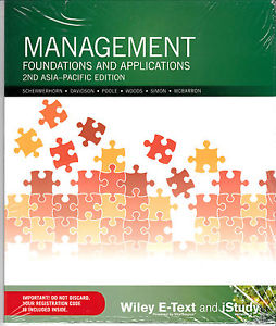 Management Foundations and Applications 2nd Asia Pacific Edition E-text Card