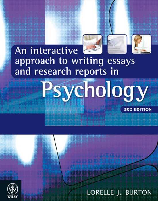 An Interactive Approach to Writing Essays and Research Reports in Psychology, 3rd Edition
