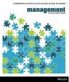 Management 5E Asia Pacific Wiley E-text Powered By Vitalsource with Istudy Card Version 3