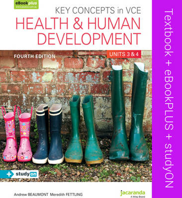 Key Concepts in VCE Health and Human Development Units 3 & 4 4E & eBookPLUS + StudyOn VCE Health and Human Development Units 3 and 4