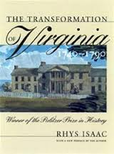 The Transformation of Virginia, 1740-90