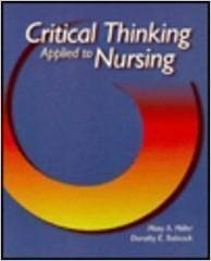 Critical Thinking Applied to Nursing