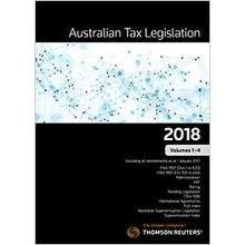 Australian Tax Legislation 2018 Vol 1-4