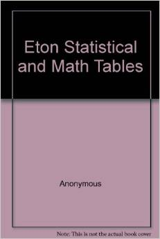 Statistical & Math Tables