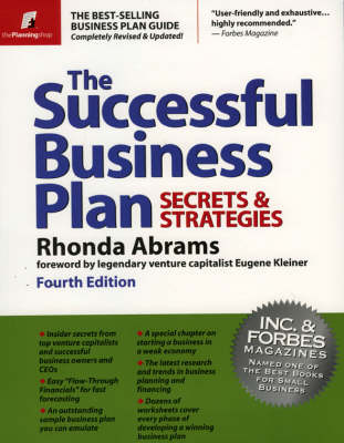 Successful Business Plan: Secrets And Strategies 4ed