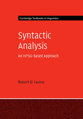 Syntactic Analysis: An HPSG-based Approach