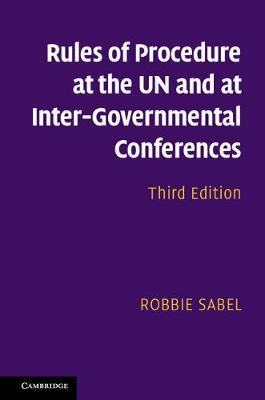 Rls Prcdr UN Intr-Govtl Cnfrncs 3ed