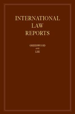 International Law Reports  : Volume 169