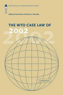 The WTO Case Law of 2002