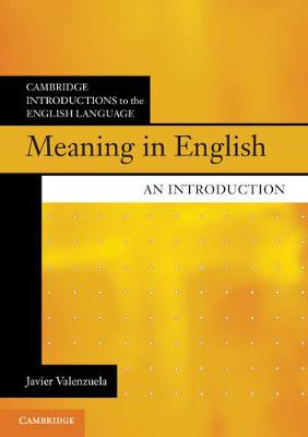 Meaning in English: An Introduction