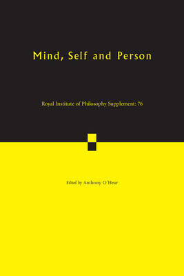 Mind, Self and Person