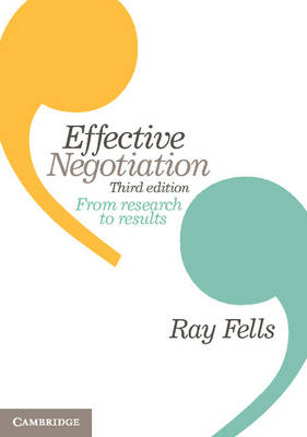 Effective Negotiation From Research to Results 3rd Edition