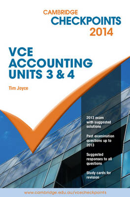 Cambridge Checkpoints VCE Accounting Units 3 and 4 2014