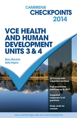 Cambridge Checkpoints VCE Health and Human Development Units 3 and 4 2014 and QuizMe More