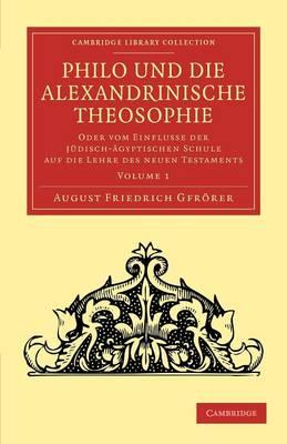 Philo Alexandrinische theosoph v1