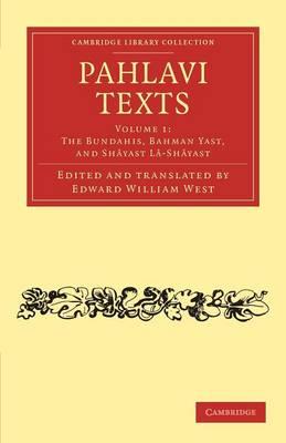 Pahlavi Texts vol 1
