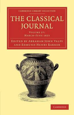 The Classical Journal vol 27