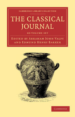 The Classical Journal 40 vol set